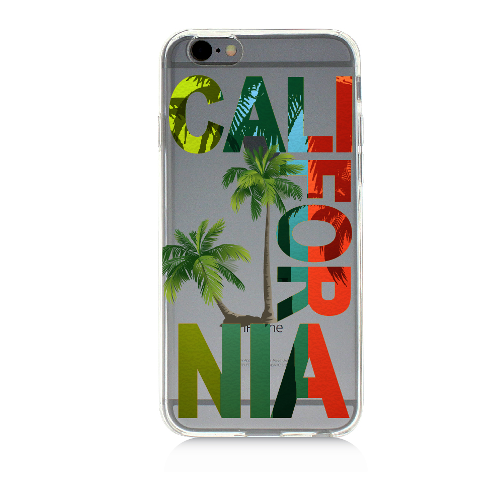 California Palm Trees Beach | High Quality UV Printed Crystal Clear TPU Cellphone Case Slim Protection Bumper Drop Proof Cover For iPhone 5C
