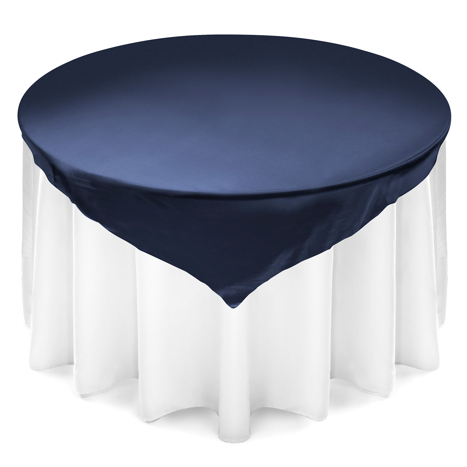 Lann's Linens 72 inch Square Satin Tablecloth Overlay Wedding Banquet Party Decoration... by Lann's Linens