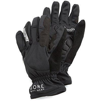 (gore women's power soft shell windstopper gloves, black, small)
