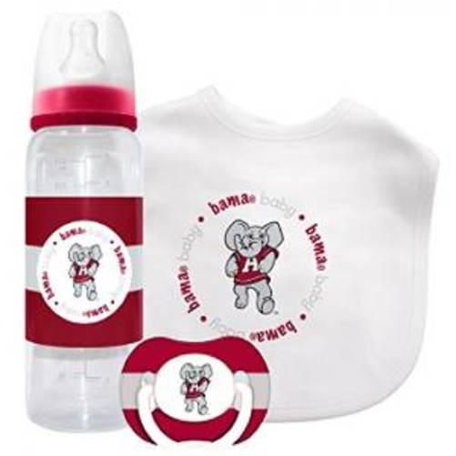 Baby Fanatic 3 Piece NCAA Gift Set, University of Alabama Crimson Tide