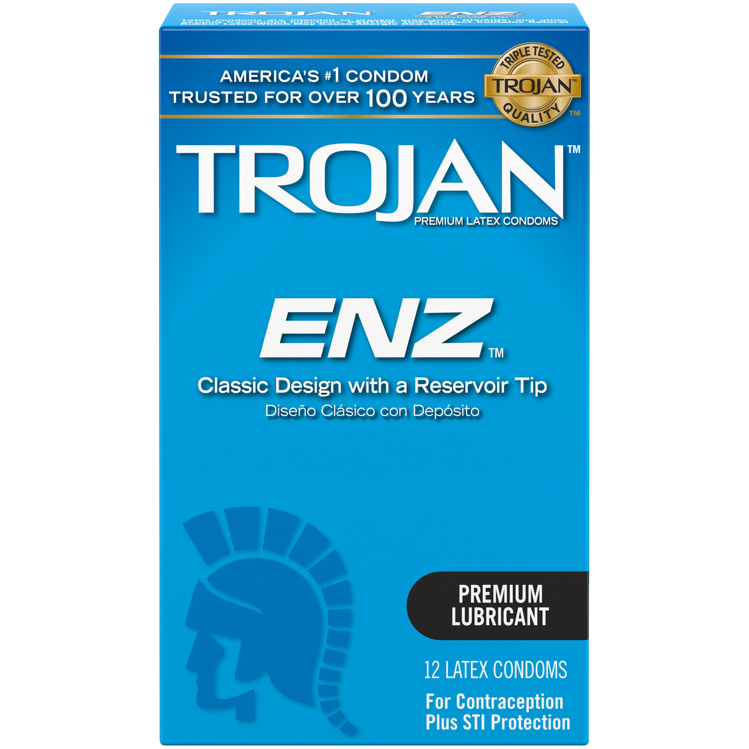 Trojan ENZ Lubricated Condoms, 12ct