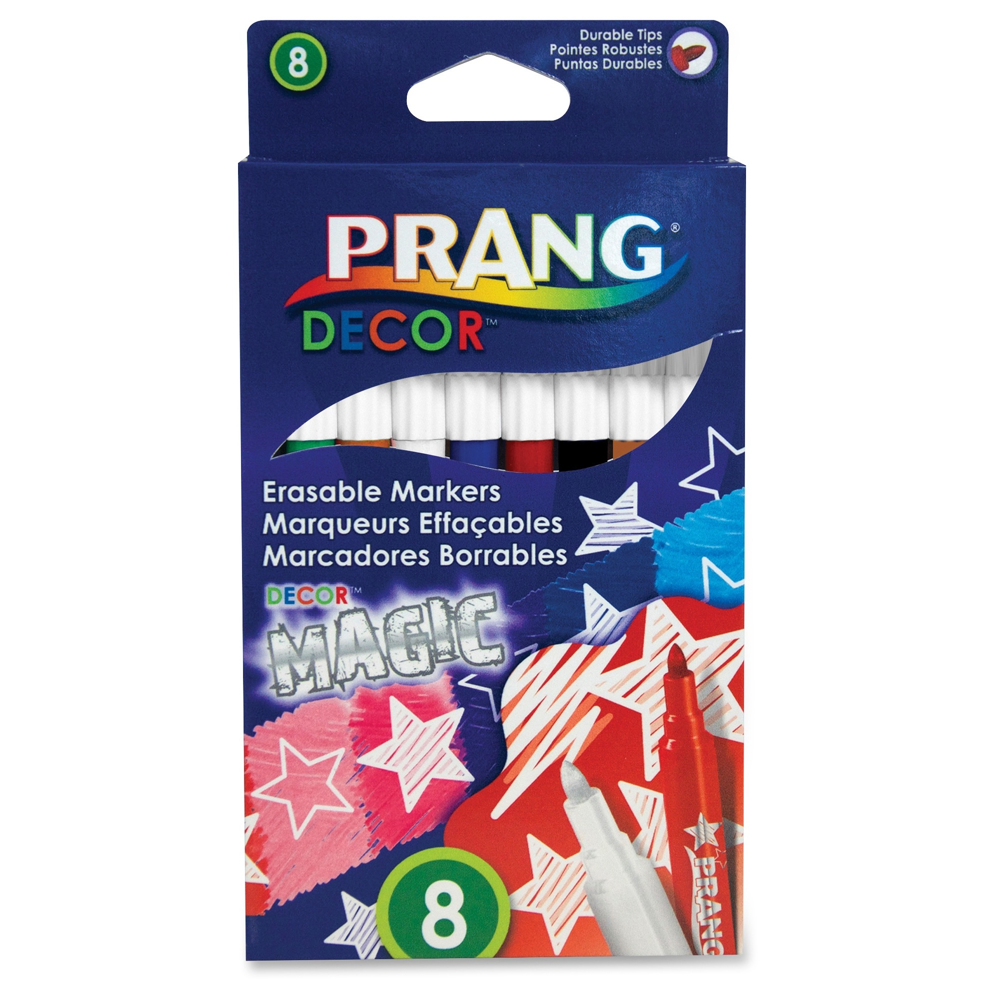 Prang Decor Magic Erasable Markers - Assorted Water Based Ink - 8 / Set (dix-74108)