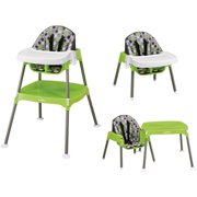 Evenflo 3-in-1 Convertible High Chair, Dottie Lime