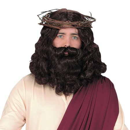 Morris Costumes Jesus Wig with Beard Halloween Party Costume Wigs Fancy Hair Dress Cosplay Accessory FW92088 - Anime Guy With Beard