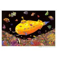 Yellow Submarine Blacklight Poster - 32x22