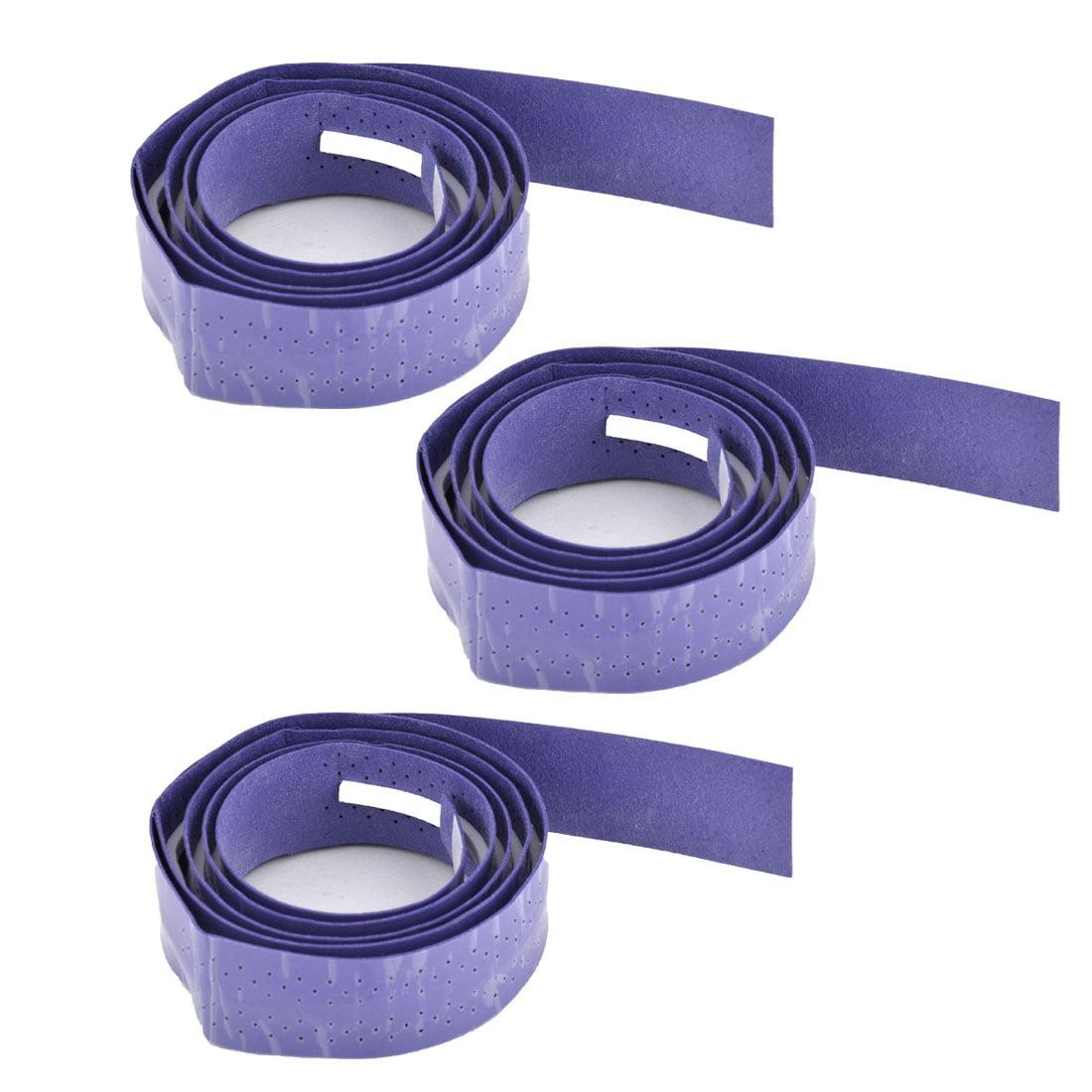 Badminton Foam Nonslip Racket Sweat Absorbing Wrap Over Grip Tape Purple 3 Pcs