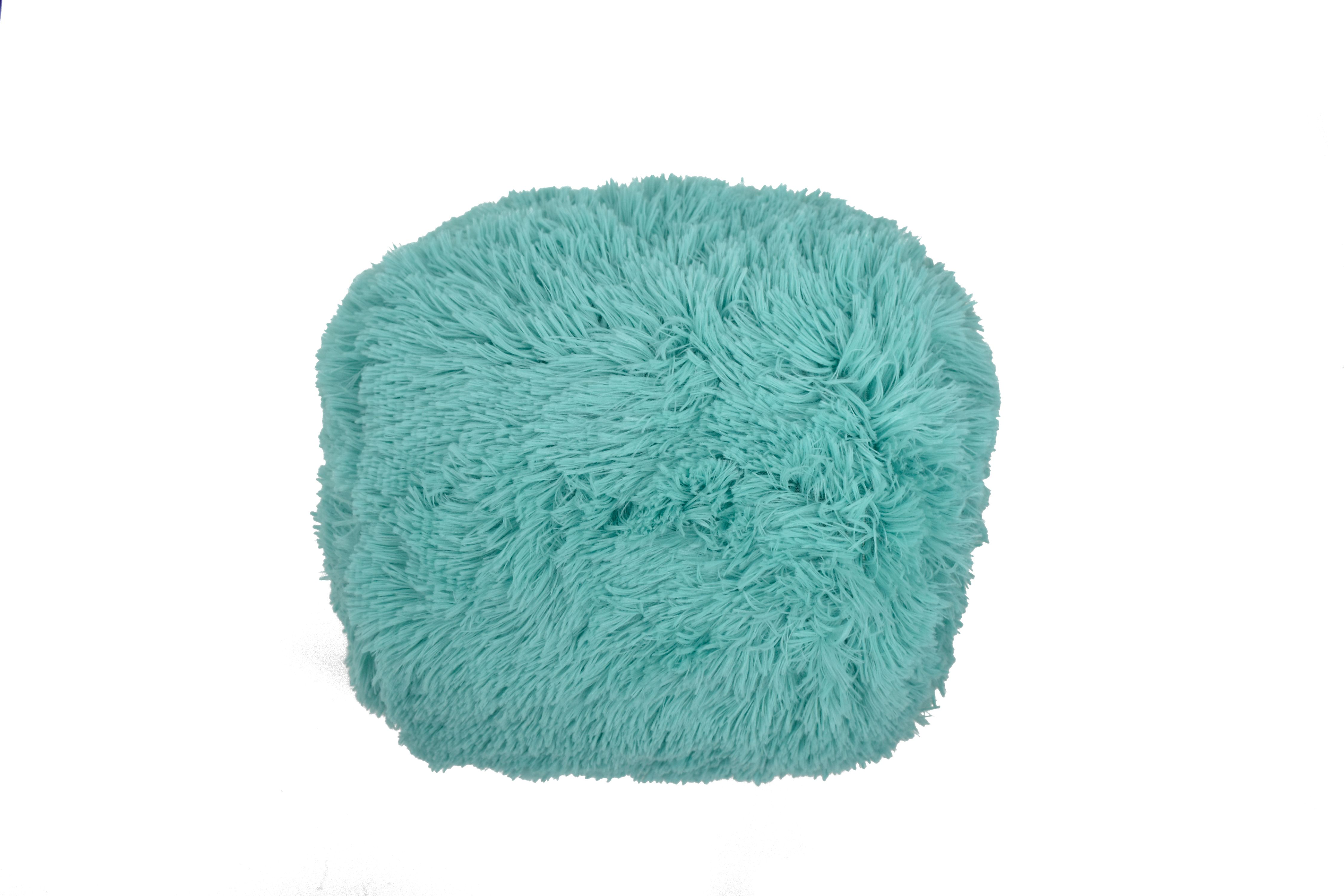 Picture of: Mainstays Fluffy Shag Decorative Pillow Teal Walmart Com Walmart Com