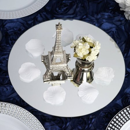 Efavormart 10 Round Glass Mirror Wedding Party Table Decorations