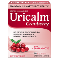 Uricalm Cranberry Flavored with D-Mannose Chewable Tablets, 60 count