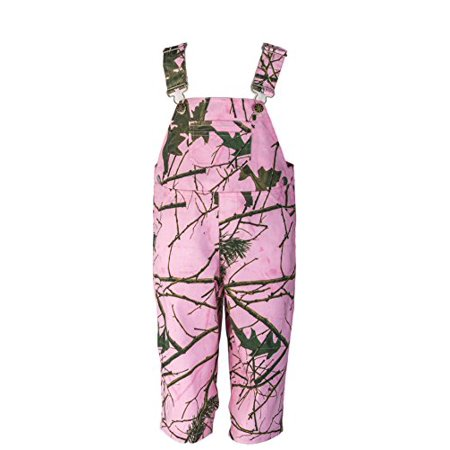 Infant Girls Bib Overall (Infant - Toddler Camo Cotton Ranger Bib Overall W/ Magnet, 18-24 Months, Pink Camo)