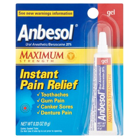 Anbesol Force maximale Gel Oral Anesthésique 0,33 fl oz