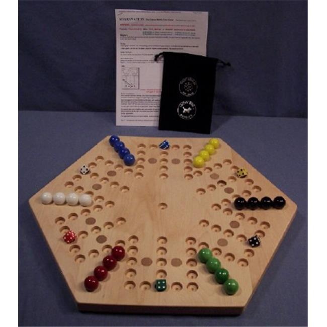 Charlies Woodshop W-1934alt.-1 Wooden Marble Game Board - Hard Maple with 12 Birch Inlaid Spots