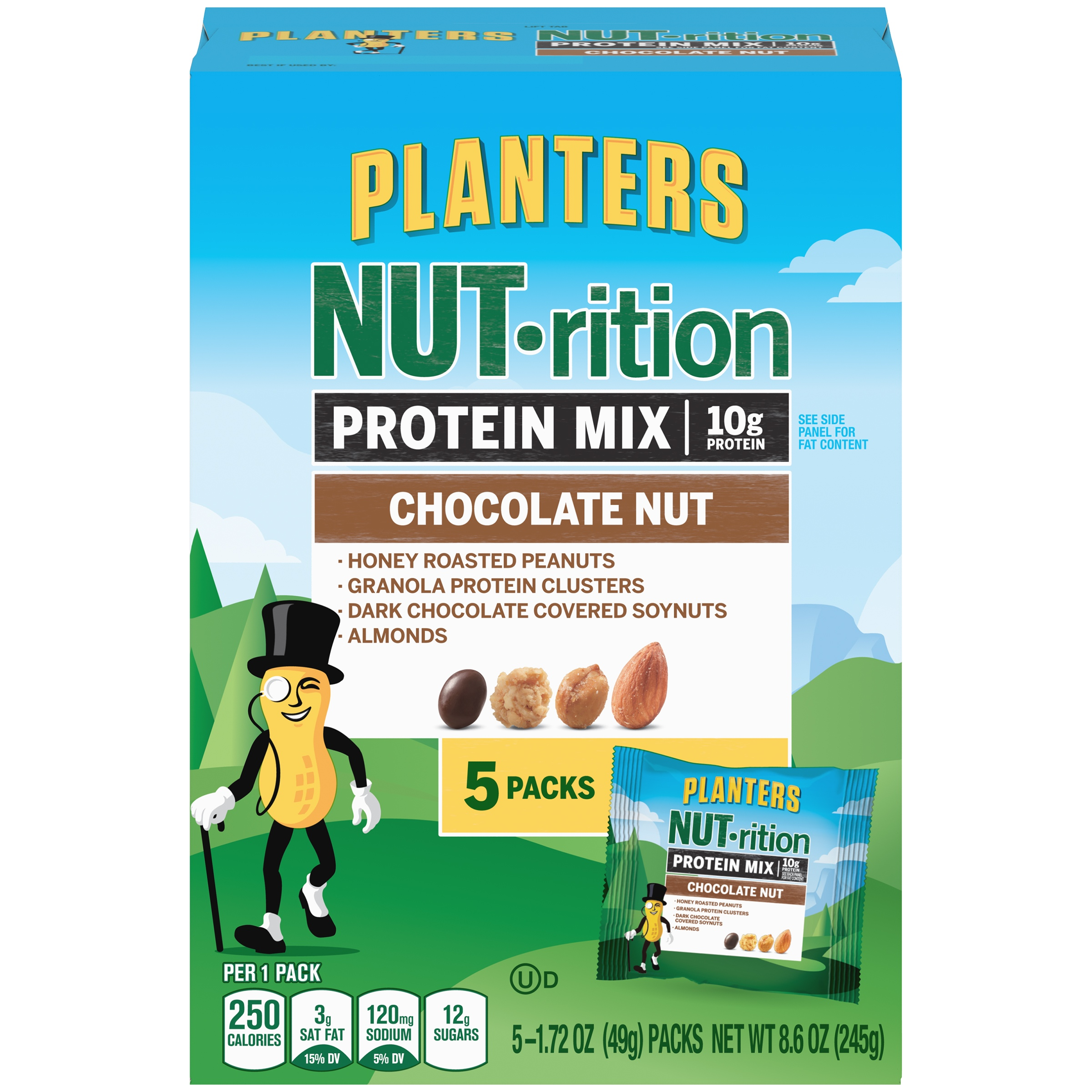 Planters NUT-rition Chocolate Nut Protein Mix 5-1.72 oz. Bags