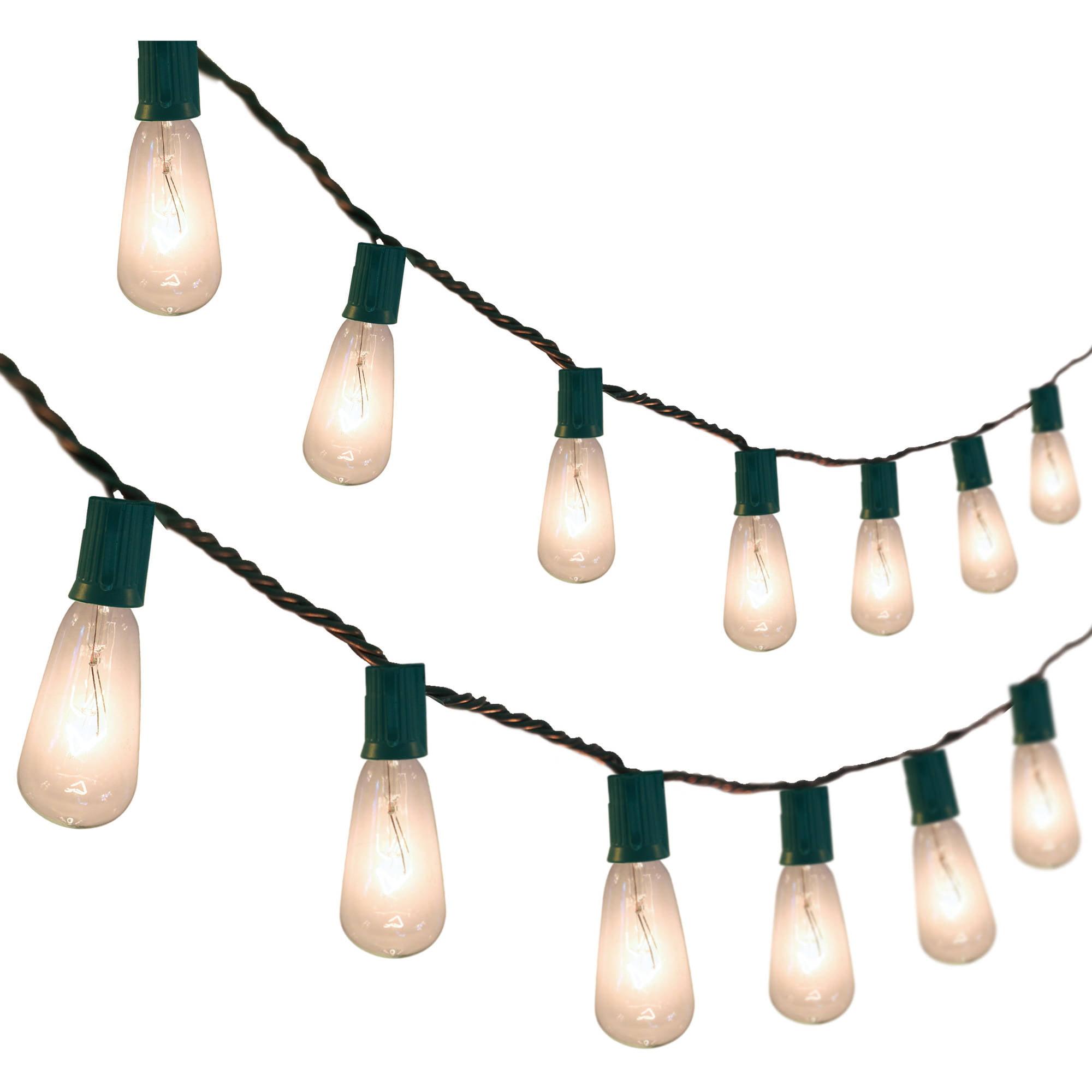 holiday time edison bulb christmas lights clear 10 count walmartcom