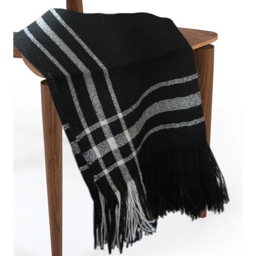 Loon Peak West Line Silky Wool Throw