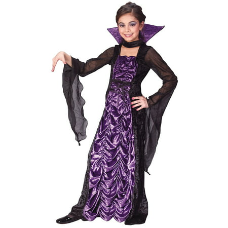 Countess Of Darkness Vampire Gothic Princess Girls Fancy Halloween Costume