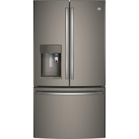 GE - Profile Series 22.2 Cu. Ft. French Door Counter-Depth Refrigerator with Keurig Brewing System -