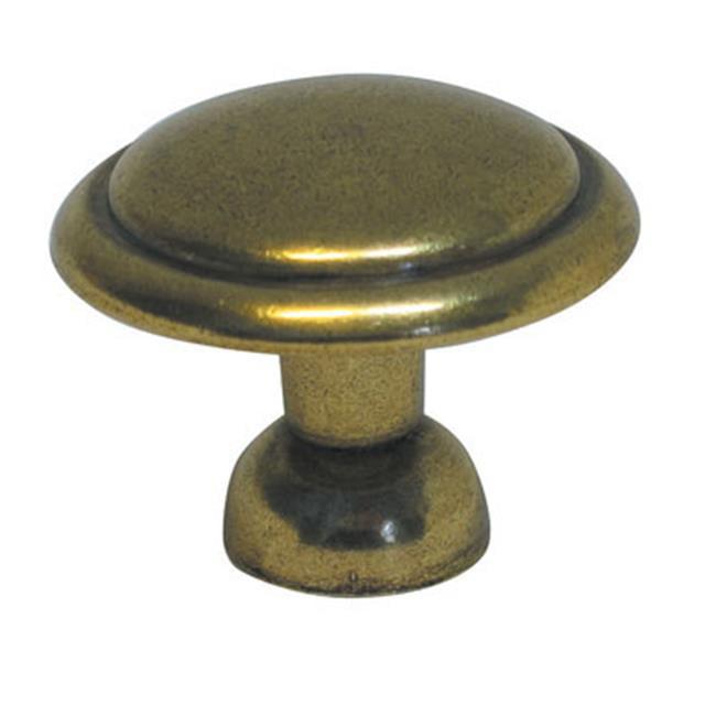 BWP14848 LB Conquest 1. 38 inch Cabinet Knob, Lustre Brass