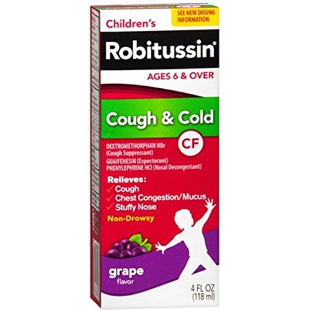 Roitussin CF Childrens Cough and Cold Syrup Grape Flavor 4oz - Childrens Syrup