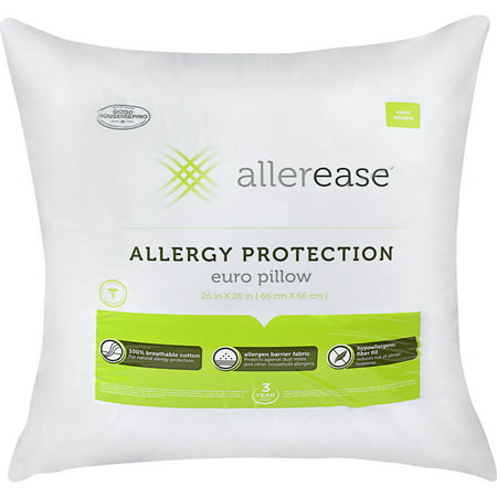 - AllerEase Cotton Euro Pillow with Allergy Protection