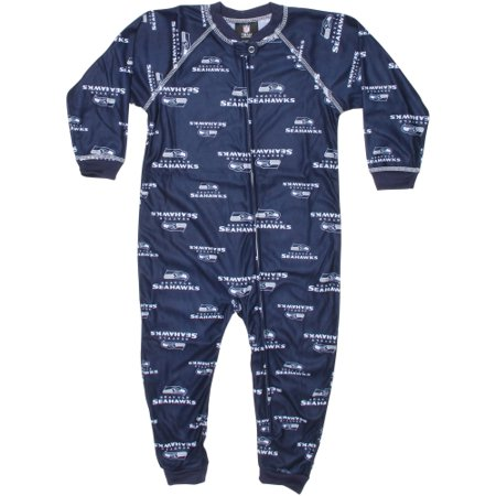 Seattle Seahawks Toddler Piped Raglan Full Zip Coverall - College Navy](Costume Shop Seattle)