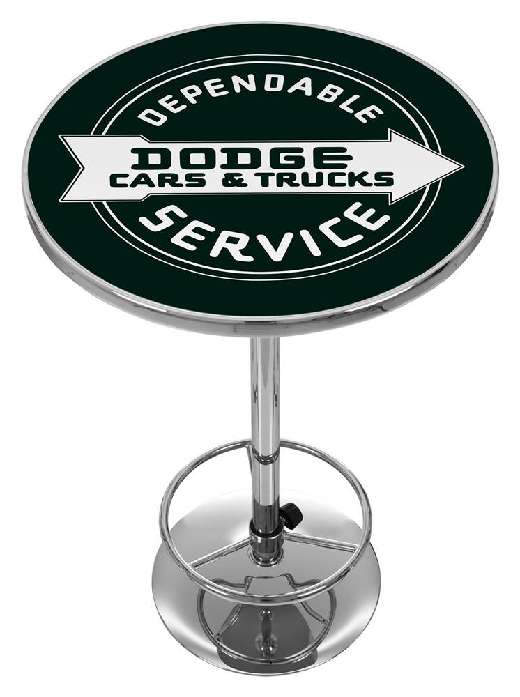 Dodge Service Logo Pub Table by Trademark Global