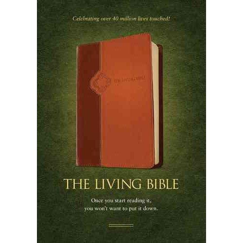The Living Bible: Brown / Tan TuTone LeatherLike