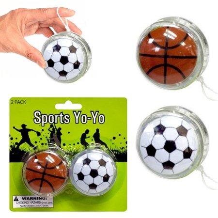 8 X Yo Yo Sports YoYo Soccer Ball Party Favor Toy Children Games Kid Boy Fun - Yoyo Balls