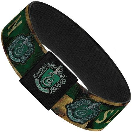 Slytherin Burnt Banner Patch Gold Green Elastic Bracelet   1.0
