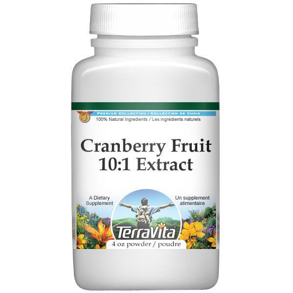 Extra Strength Cranberry Fruit Juice 10:1 Extract Powder (4 oz, ZIN: 512973) by TerraVita