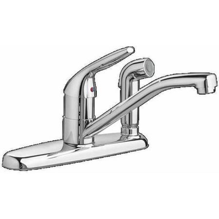 American Standard 4175.703.F15.002 Colony Choice 1.5 GPM Kitchen Faucet with Color-Matched Sprayer thru Escutcheon, Available in Various Colors