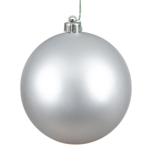 Vickerman N594007DMV Silver Matte UV Drilled Ball Ornament, 15.75 in. - image 1 de 1