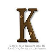 SalsburyIndustries 1240A-K Solid Brass 3 in. Letter, Antique - K