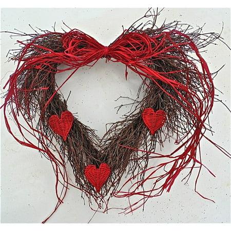Dried Flowers and Wreaths LLC 20'' Wild Heart - Valentines Wreaths