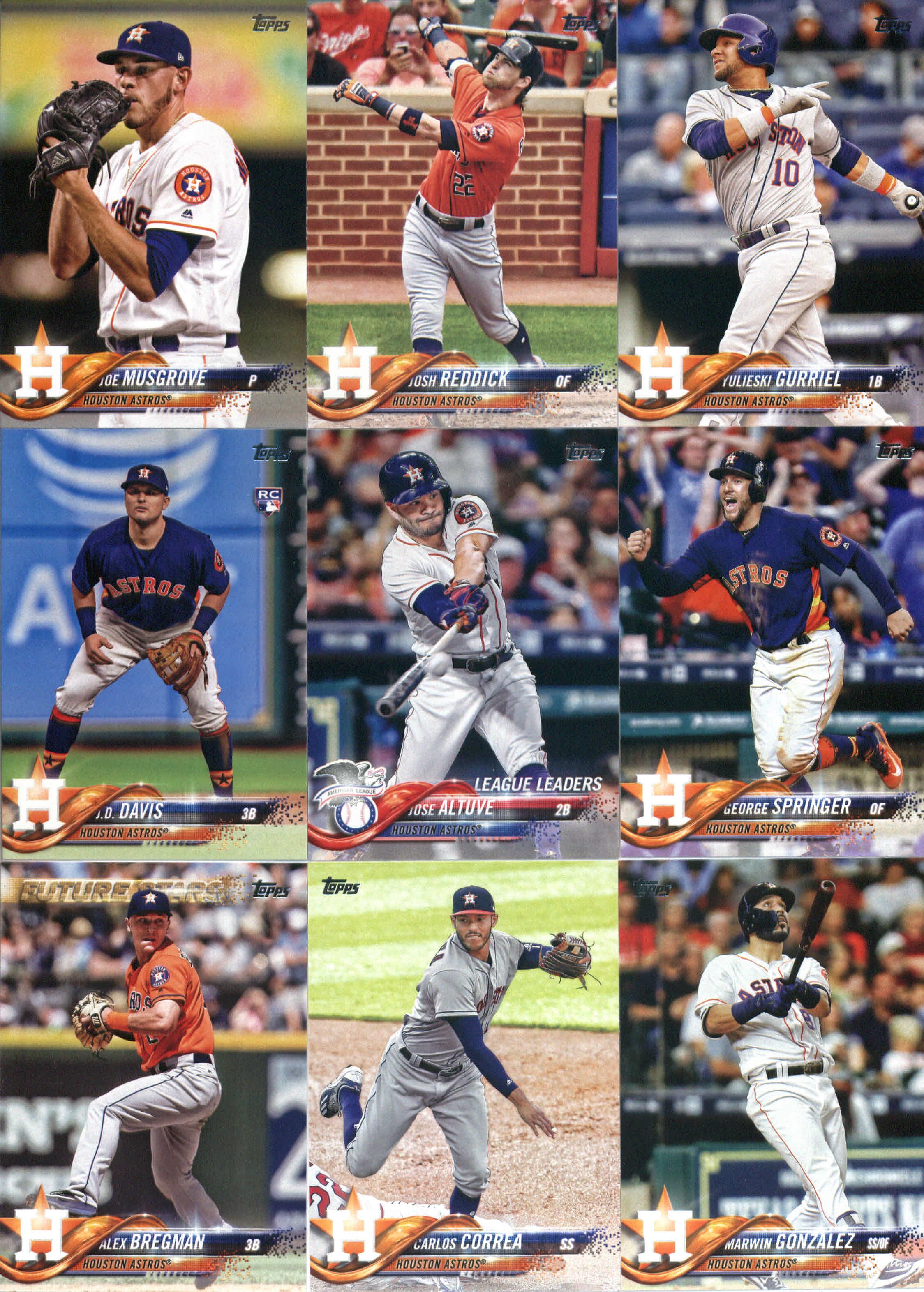 2018 Topps #128 Jake Marisnick Houston Astros Baseball Card