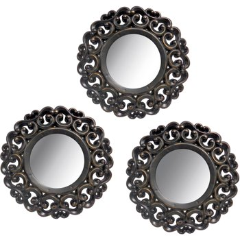 Harbortown Industries 3-Piece Scroll Mirror Set