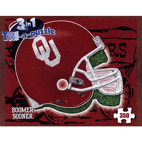 Oklahoma Sooners Helmet 3-in-1 350 Piece Puzzle,  Oklahoma Sooners by Late For The Sky Production Co.