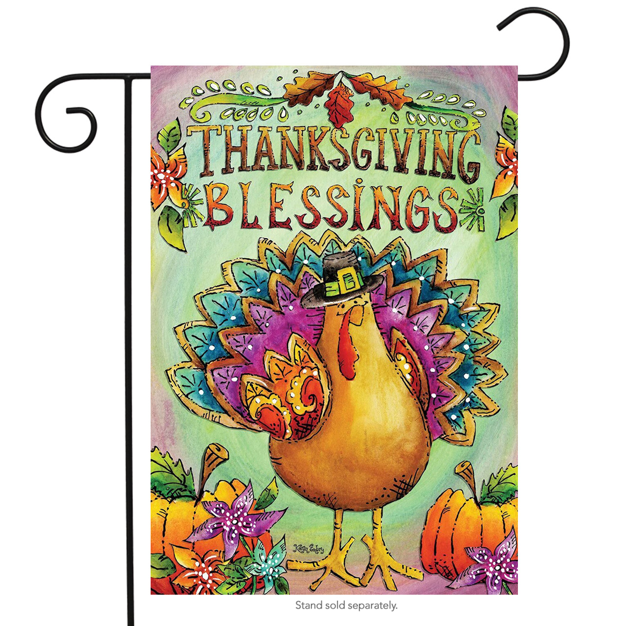 "Thanksgiving Blessings Turkey Garden Flag Holiday Briarwood Lane 12.5"" x 18"""