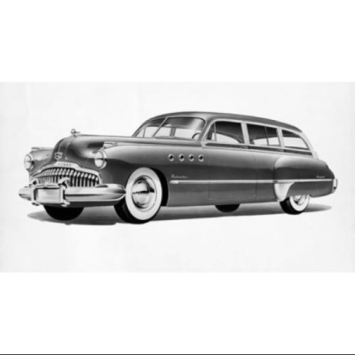 1949 Buick Roadmaster Estate Wagon Poster Print (18 x 24)
