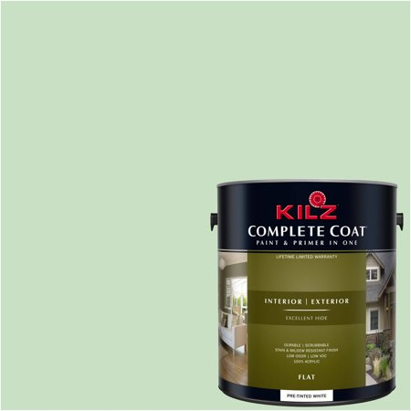 KILZ COMPLETE COAT Interior/Exterior Paint & Primer in One #RG190-02 Budding Green - Green Chalkboard Paint