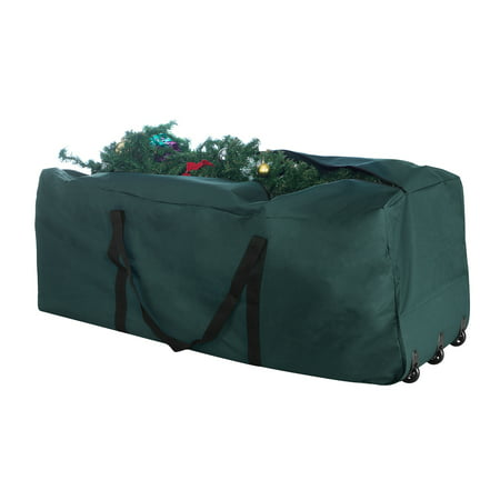Elf Stor Premium Green Rolling Christmas Tree Storage Duffel Bag for 9 Ft Tree (Green Elf Off The Shelf)