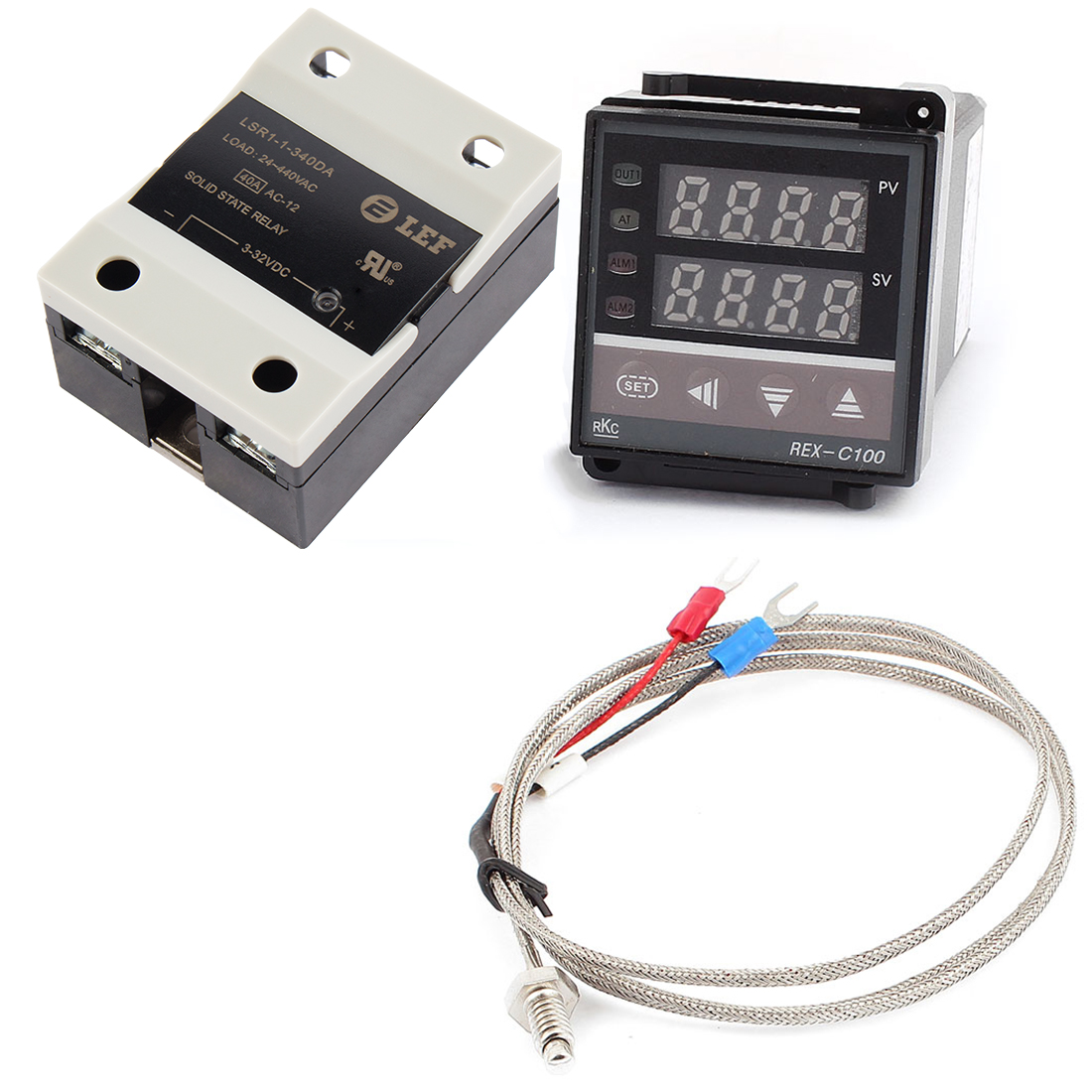 Digital PID Thermostat Temperature Controller + SSR-40 DA + K Thermocouple