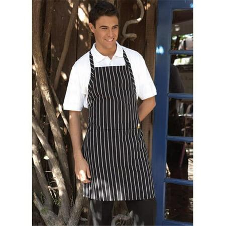 Ajustable Butcher 2 Section Pocket Apron in Chalk - Butchers Stripe