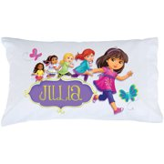Personalized Dora and Friends Hola Amigas Pillowcase