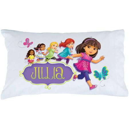 Personalized Dora and Friends Hola Amigas Pillowcase Dora The Explorer Cotton Pillowcase