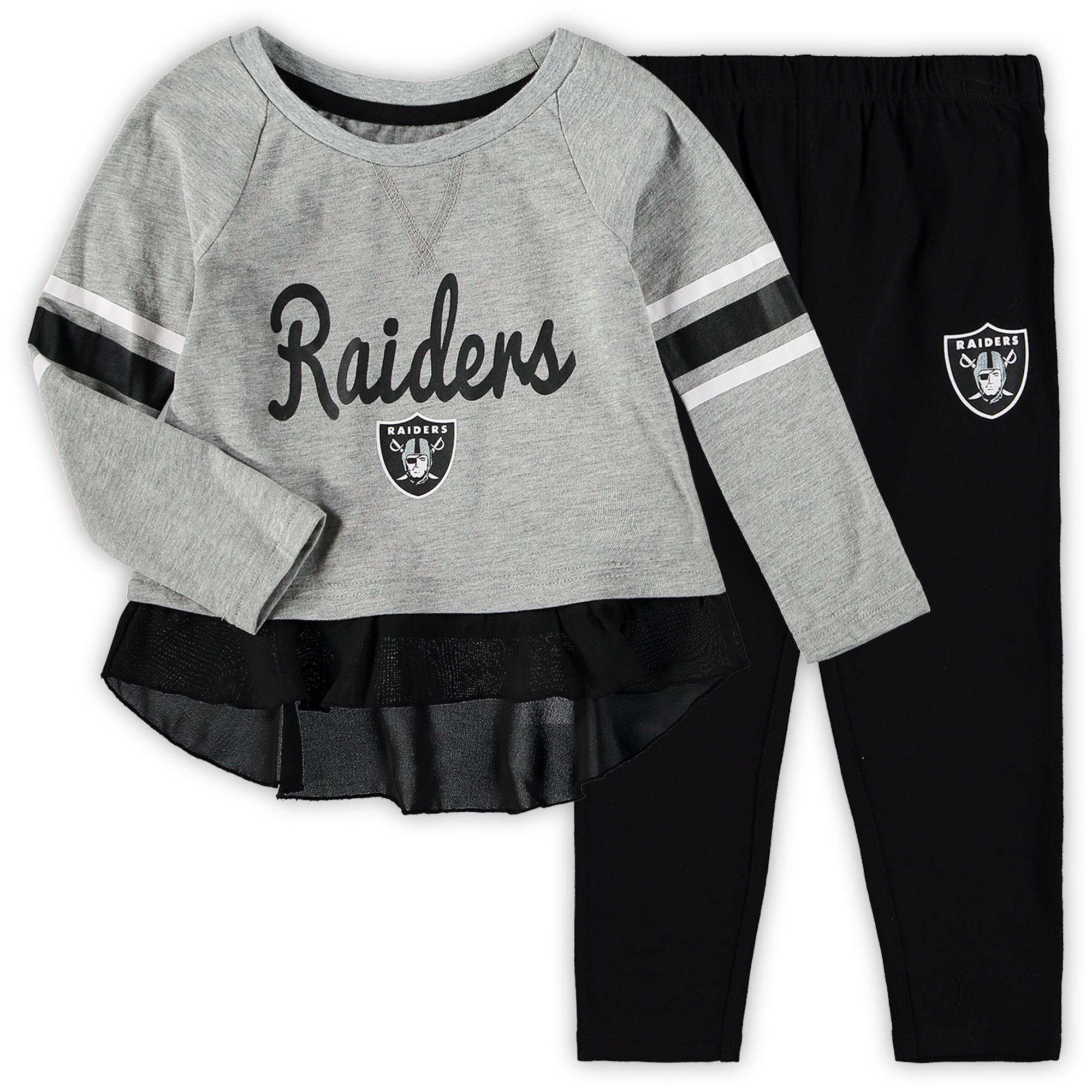 Oakland Raiders Girls Toddler Mini Formation Set - Gray/Black