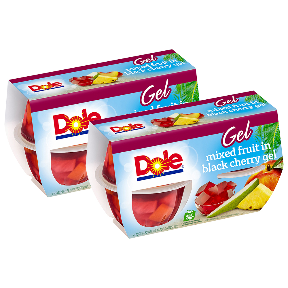 (8 Pack) Dole Fruit Bowls, Mixed Fruit in Black Cherry Gel, 4.3 Ounce (4 Cups)