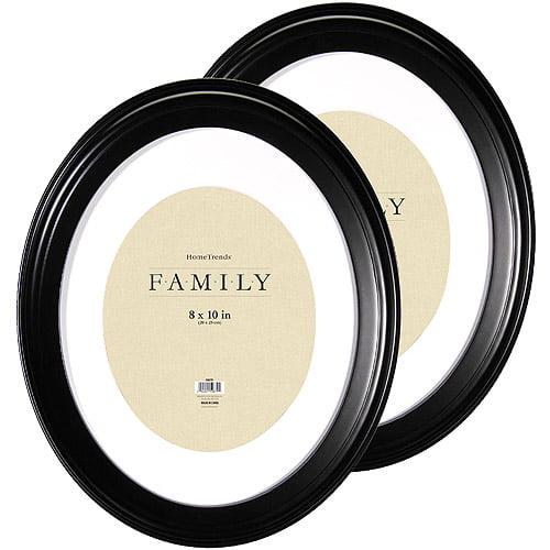 Oval Black Picture Frames Set Of 2 Walmart