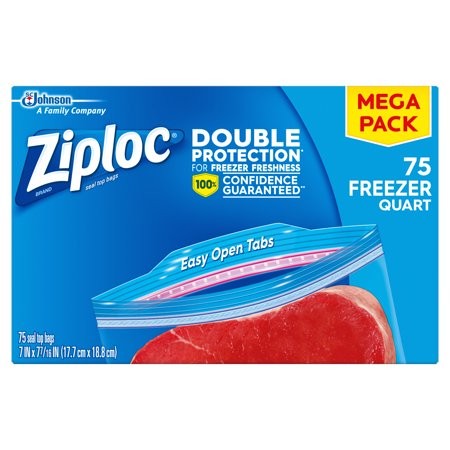 1 Quart Bag (Ziploc Freezer Bags, Quart, 75 ct)