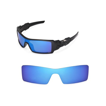 - Walleva Ice Blue Replacement Lenses for Oakley Oil Rig Sunglasses